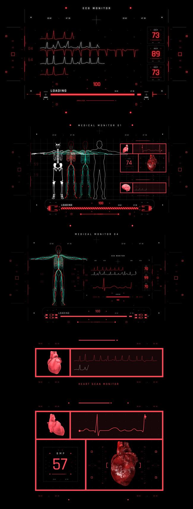 AE脚本-500个HUD高科技赛博朋克UI科幻界面元素动画预设包 Cyberpunk HUD UI 500+ 已修复中文版AE表达式报错插图15