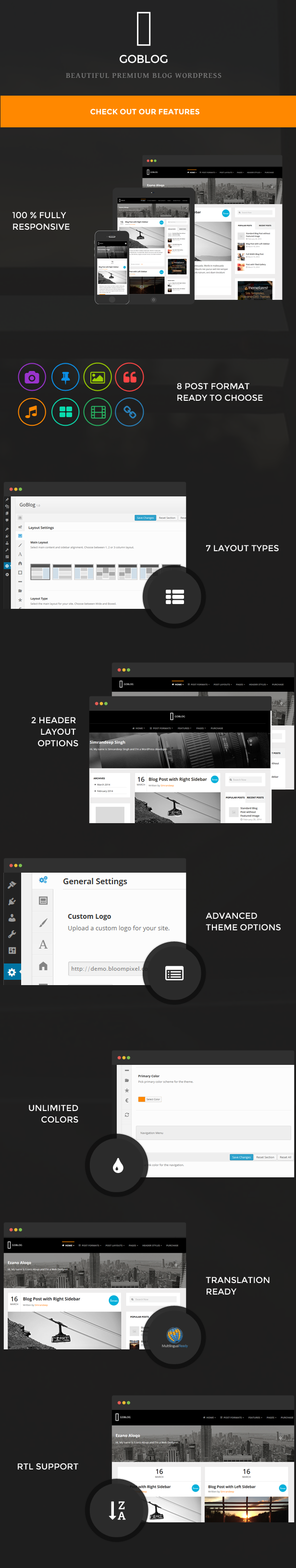GoBlog - Responsive WordPress Blog Theme - 2