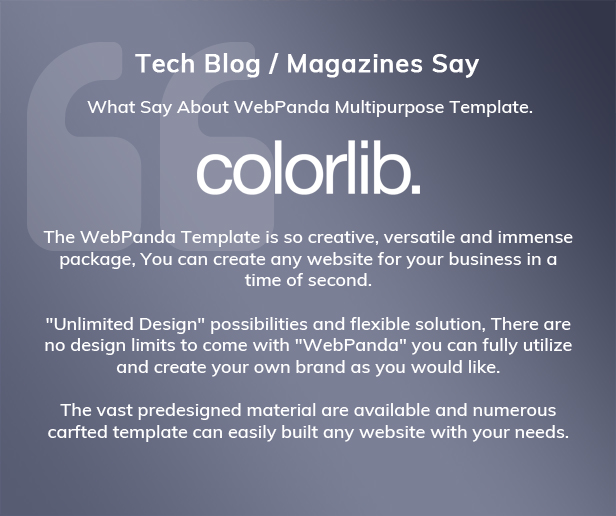 What technical magazine say about WebPanda?