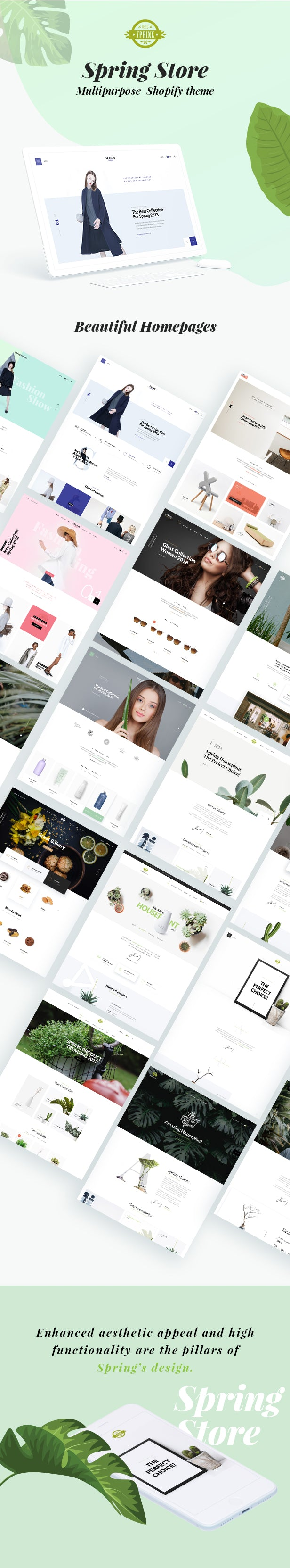 Shopify theme spring features