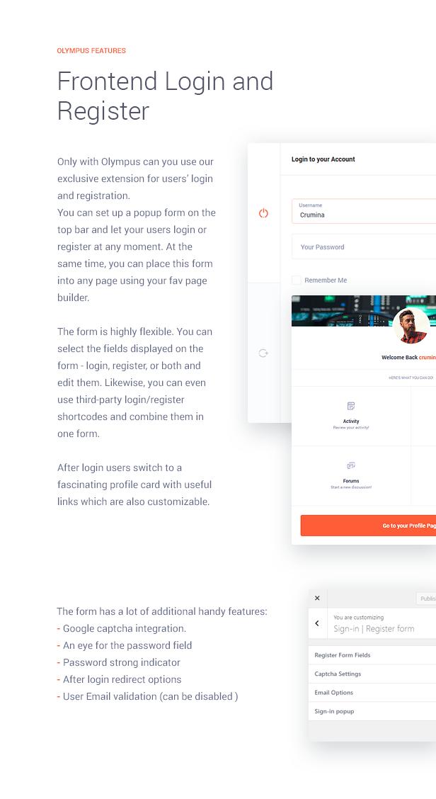 Frontend Login | Register