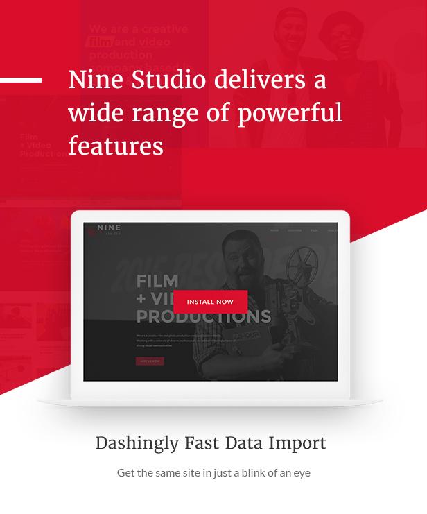 Filmmaker Director Film Studio WordPress Theme - Poweful features