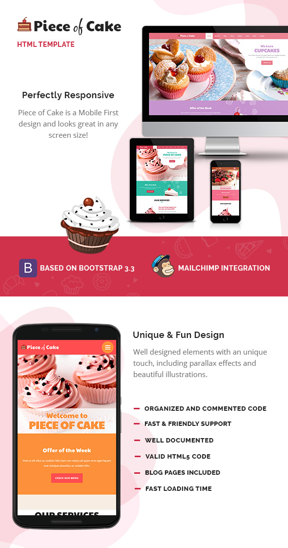 Piece of Cake HTML Template