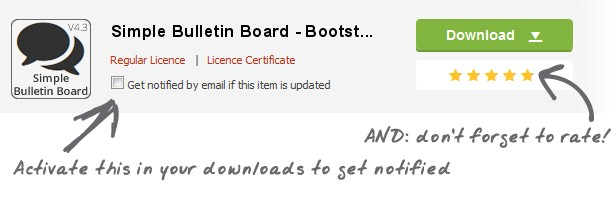 Simple Bulletin Board - Bootstrap Edition - 1