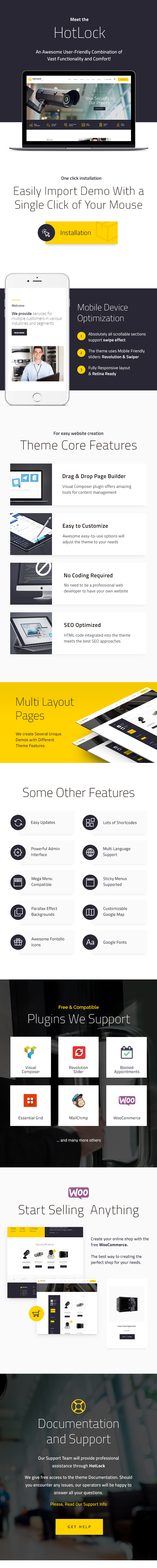 HotLock | Locksmith & Security Systems WordPress Theme - 2