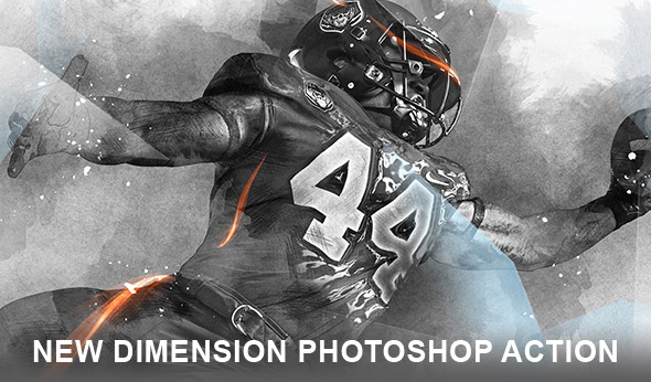 New dimension Photoshop action