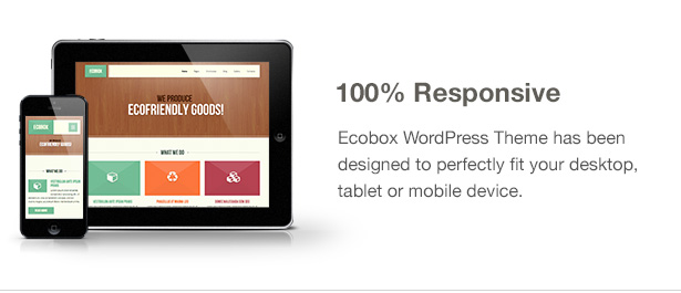 Ecobox WordPress Theme Features: Responsive