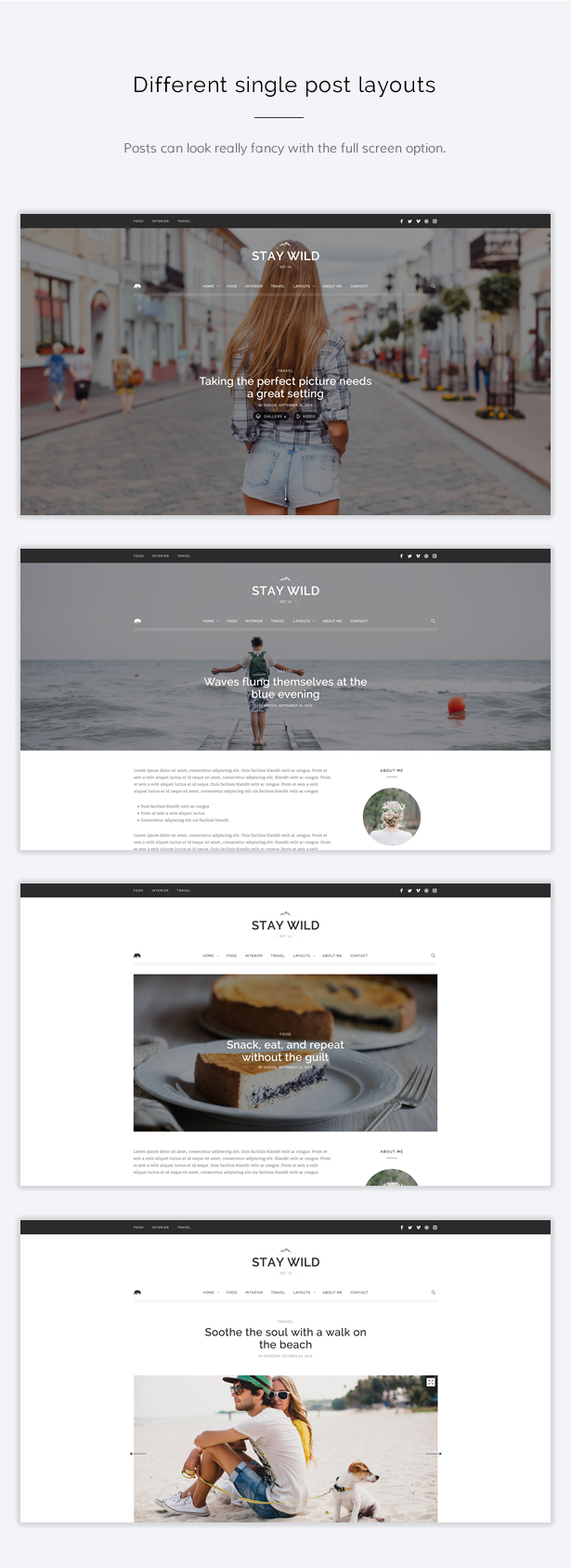 Stay Wild - A Clean Lifestyle Blog & Shop Theme - 7