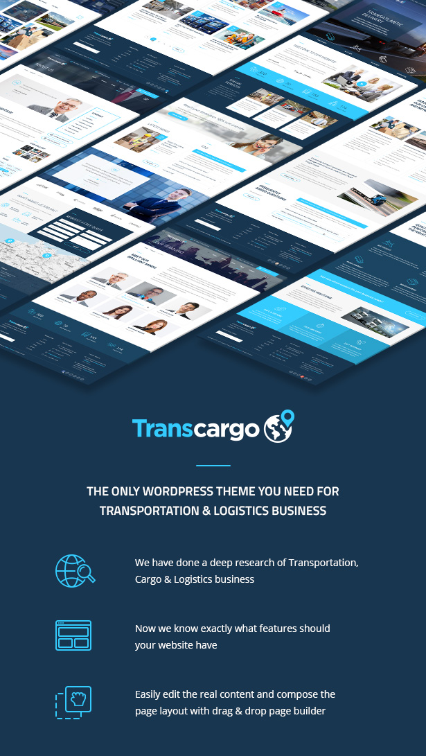 Transcargo - Transportation WordPress Theme for Logistics - 1