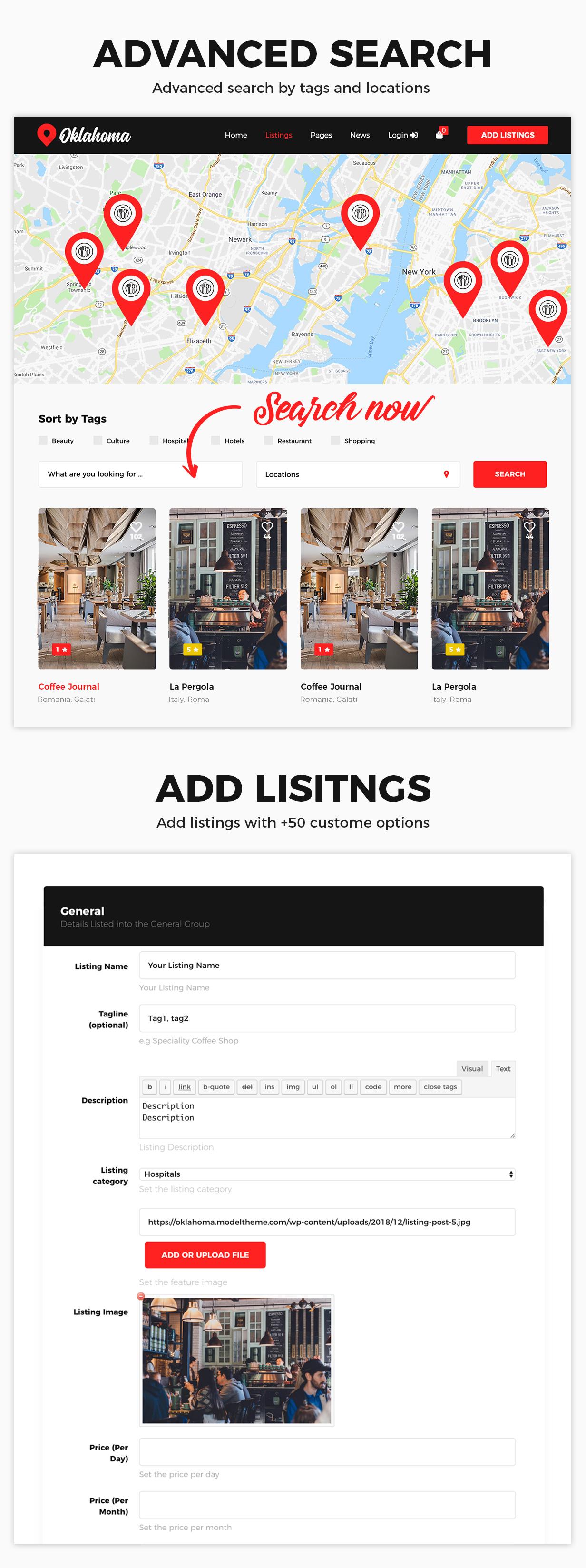 Oklahoma - Directory & Listings WordPress Theme - 4