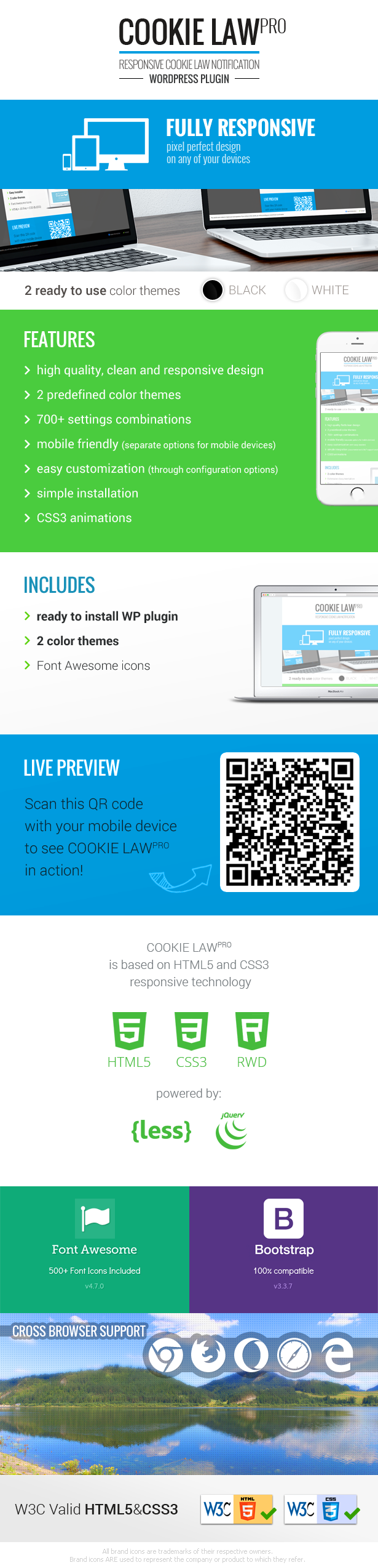 Responsive Cookie Law Consent Notification WP Plugin GDPR Compliance - 1