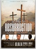Christian resurection Flyer Template