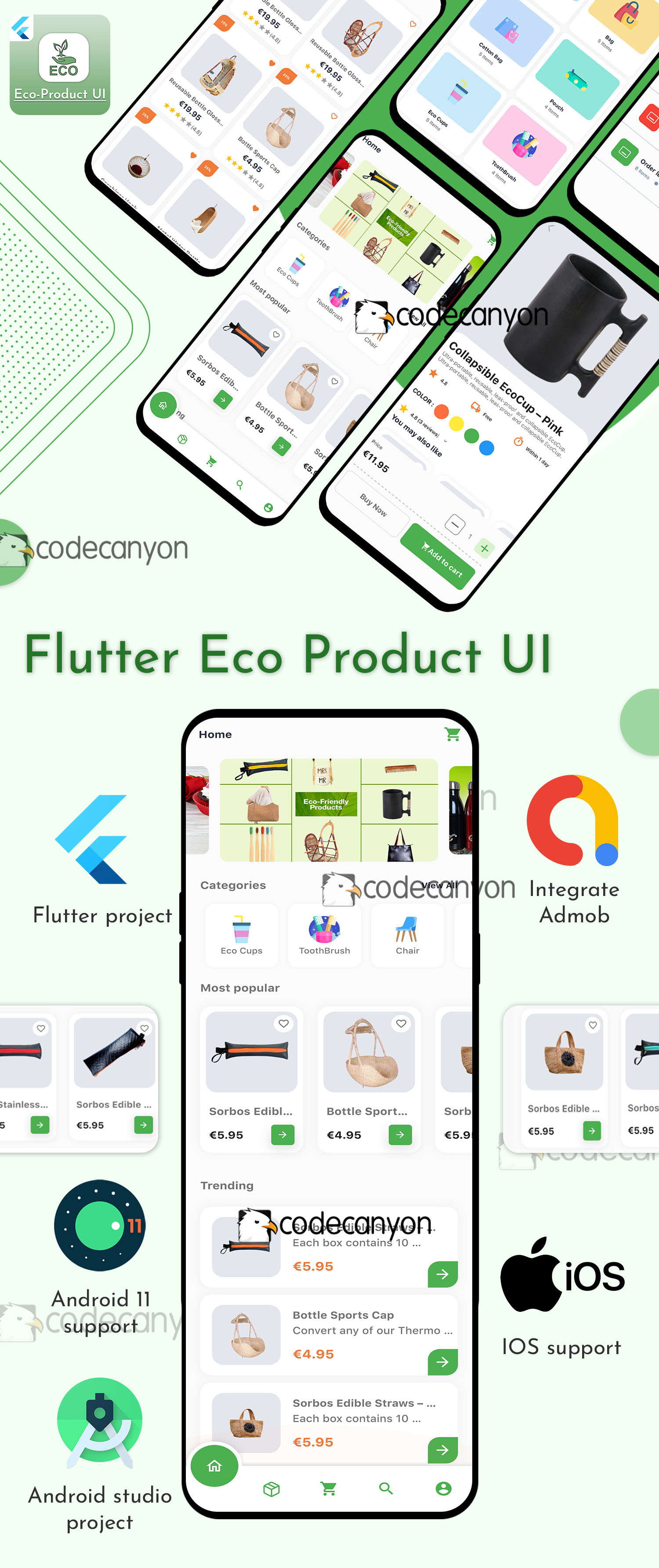 Flutter Eco-product UI Kit template - 5