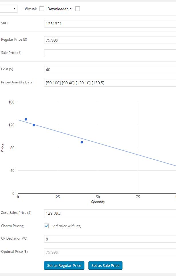 WooCommerce Price Optimizer - Edit Product