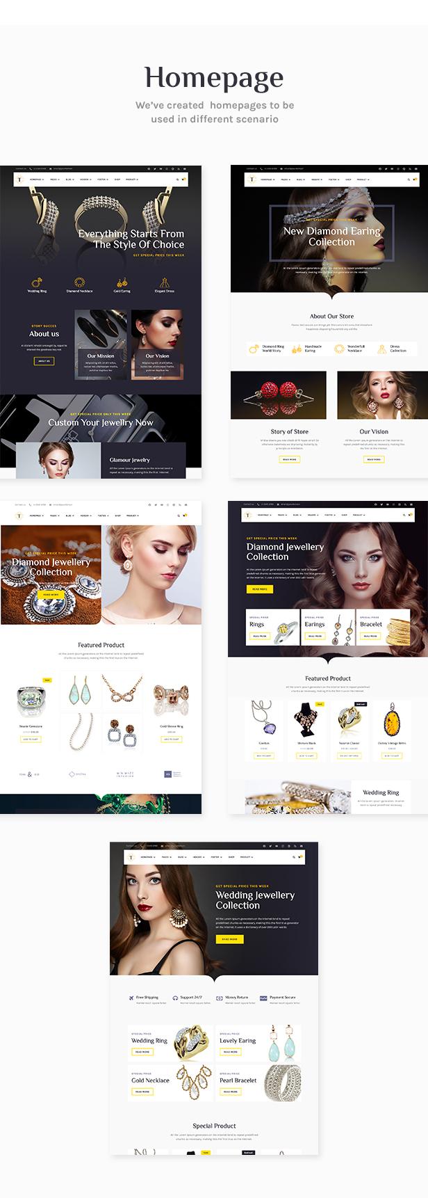Tisara Jewelry WooCommerce Theme - 1