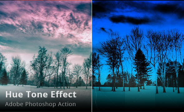 Hue Tone Effect Photoshop Action