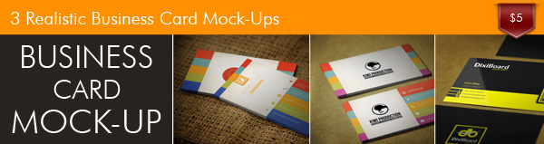 Look at Business Card Mockup 3
