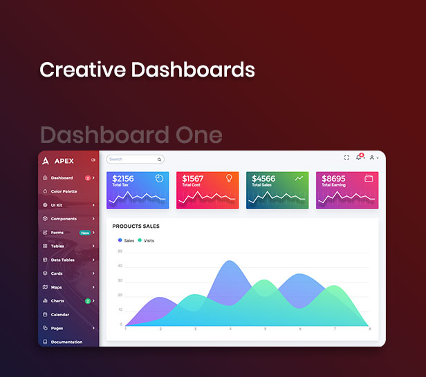 Apex Angular 4+ Bootstrap Admin Template