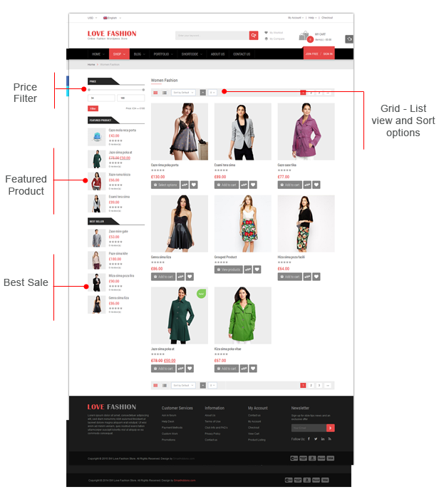 Love Fashion - Category page