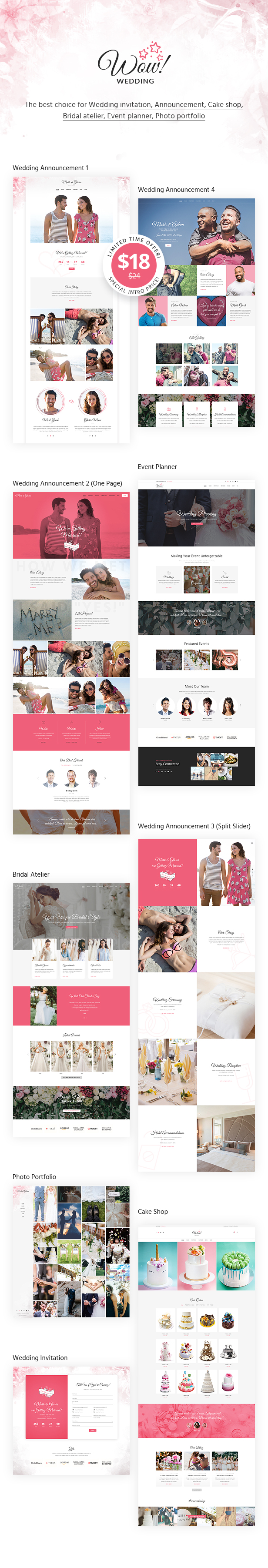 WoWedding - Wedding Oriented HTML Website Template - 1