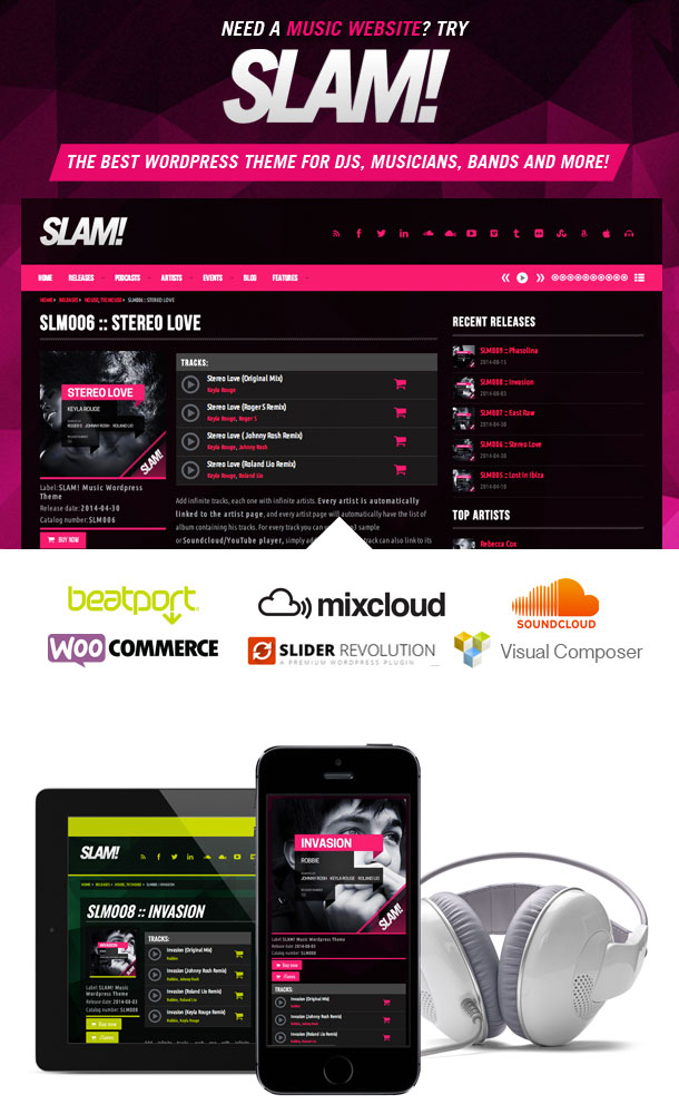 Let'S Rock! - Dj / Musician Press Kit Psd Template By Dogmadesign