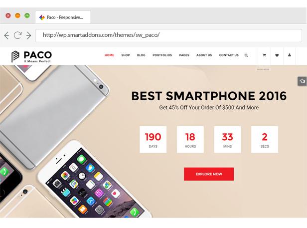 Paco - Responsive WooCommerce WordPress Theme - Beautiful Slider