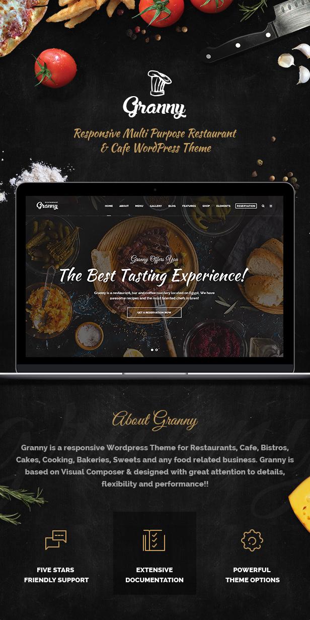 Restaurant Granny - Elegant Restaurant & Cafe WordPress Theme - 4