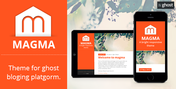 Magma - Clean Responsive Modern Ghost Theme - Ghost Themes Blogging