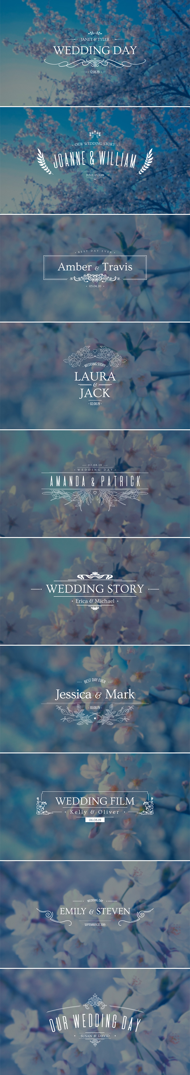 Wedding Titles 20439562 - Free After Effects Template