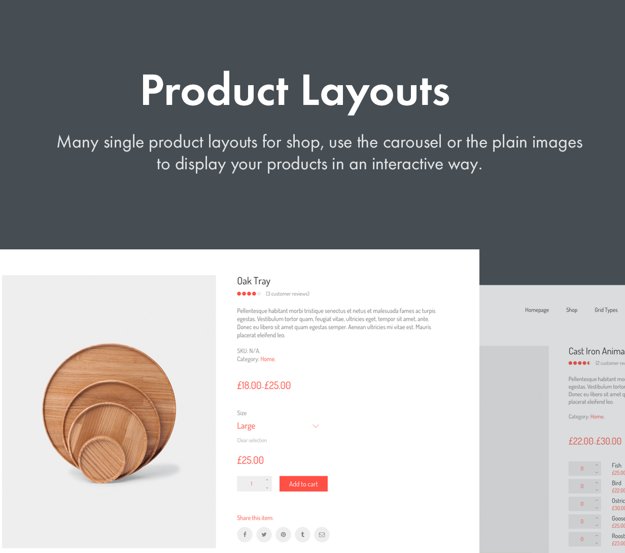 Many Product Layout Styles