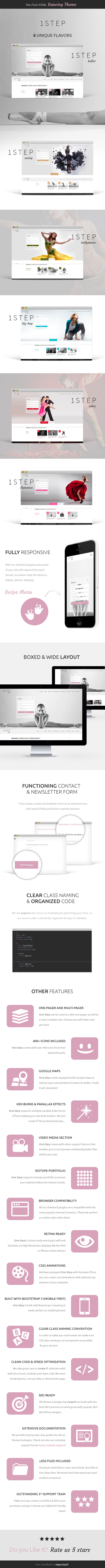 One Step - Creative Ballet HTML Template - 7