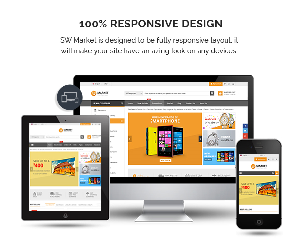 SW Market - Responsive WooCommerce WordPress Theme - Fully Responsive