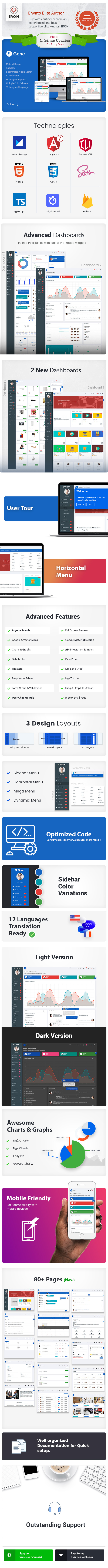 Angular 8 Admin Template with Material Design - 4