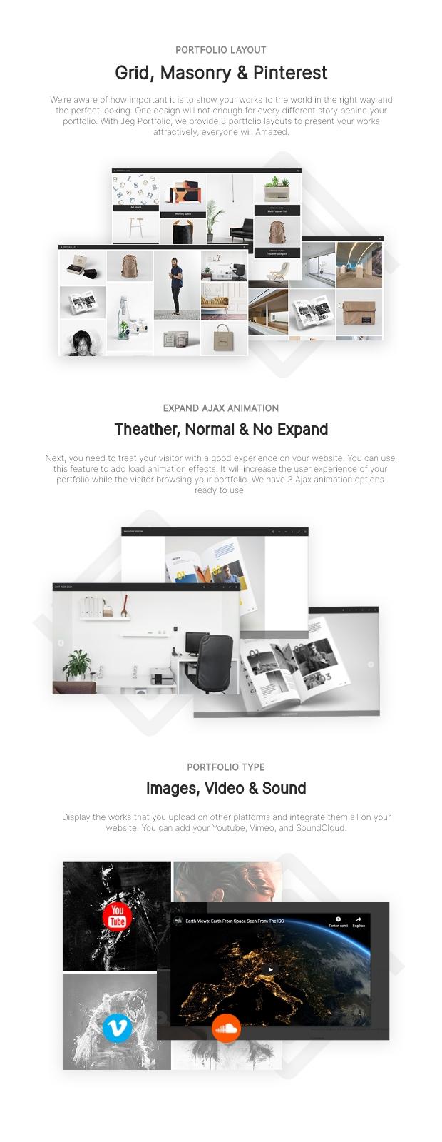 Jeg Portfolio - Responsive Portfolio & Gallery Plugin For WordPress - 1