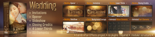Wedding Pack Lovely Memories After Effects Templates