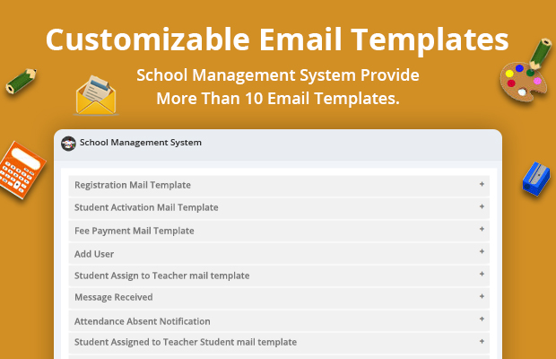 email template School Management System