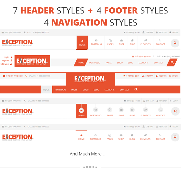 html header menu templates - exception responsive business html template by it rays