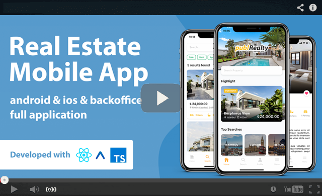 Real Estate Mobile App Template With React Native - 2