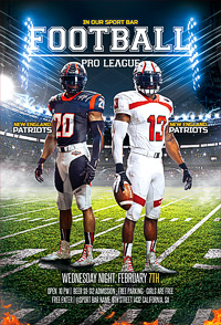 American Football Flyer / Football League '14