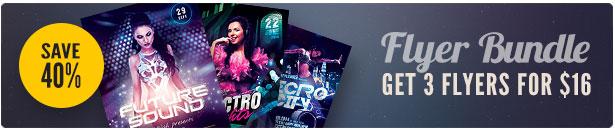 Electro Party Flyer Bundle Vol.07
