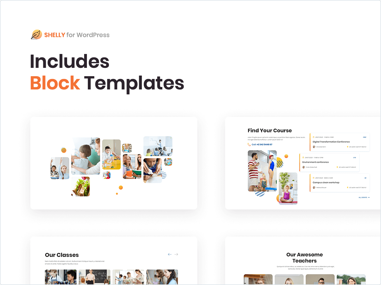 Includes Block Templates