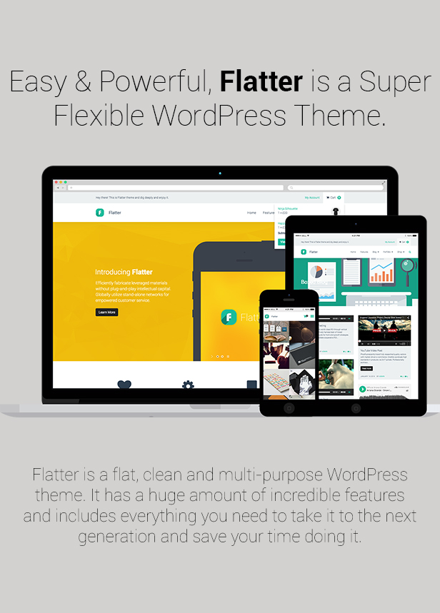 Flatter - Multi-Purpose Theme for Your Creativity - 1