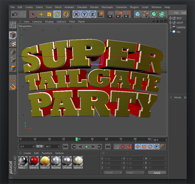 Super Tailgate Cinema 4D Project File