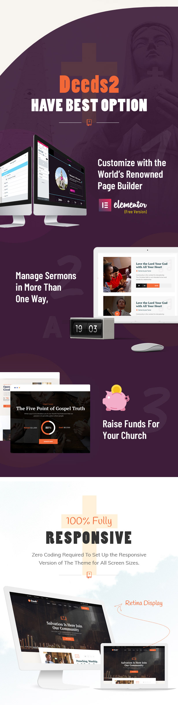 Deeds2 - Religion and Church WordPress Theme - 4