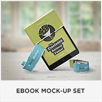 Square Book Mock-up / Dust Jacket Complete Edition - 9