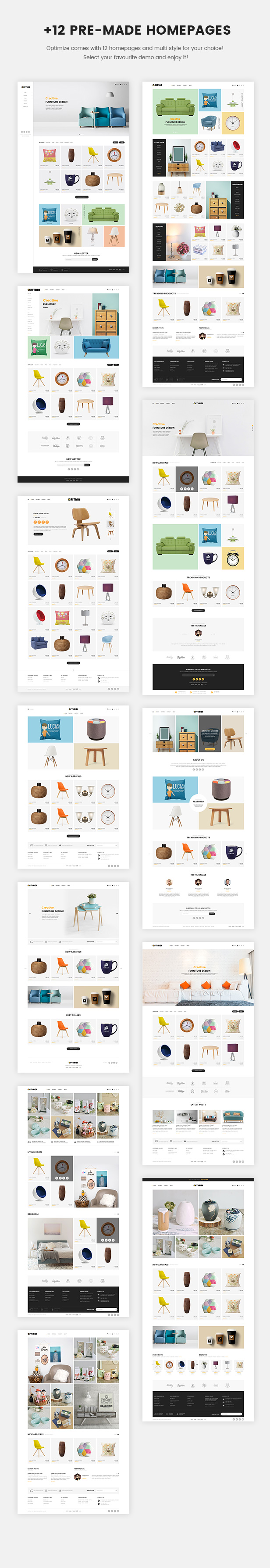 demo optimize prestashop theme