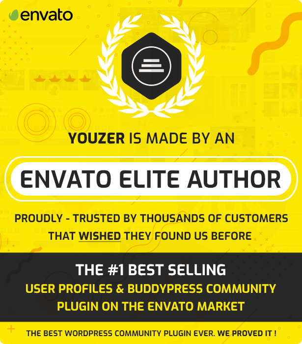 Youzer is made by Envato Elite Author