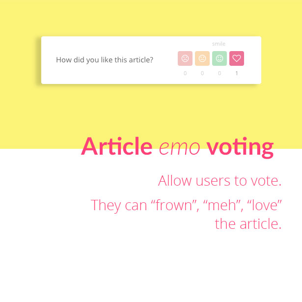 helpie - helpdesk article emo-voting