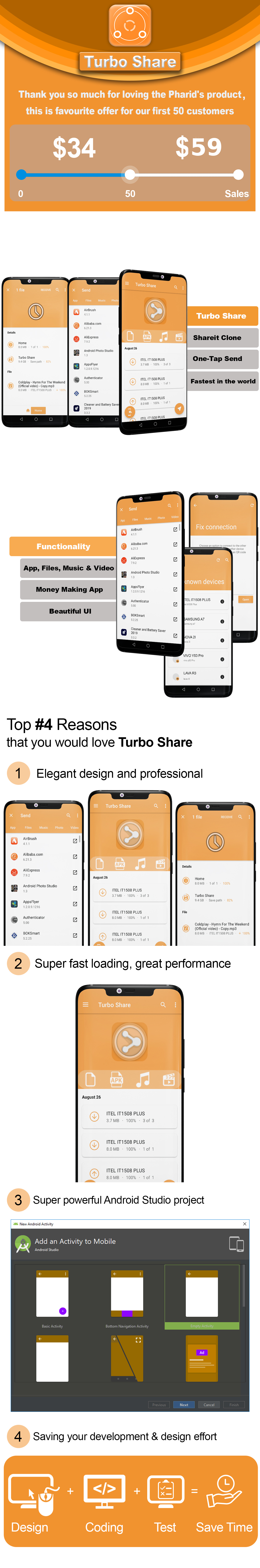 Turbo Share - ShareIt Clone | Ultimate Transfer & Share - 1