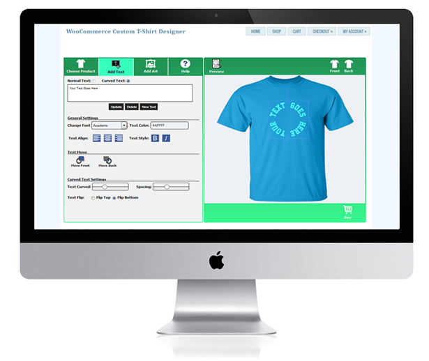 Woocommerce custom t shirt designer by wpproducts codecanyon for T shirt designer plugin